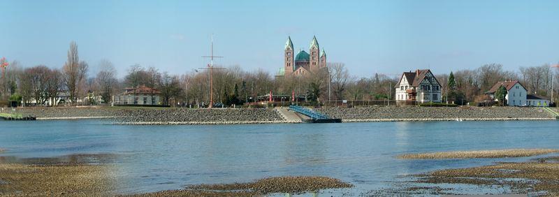 Panorama Rhein mit Dom in Speyer