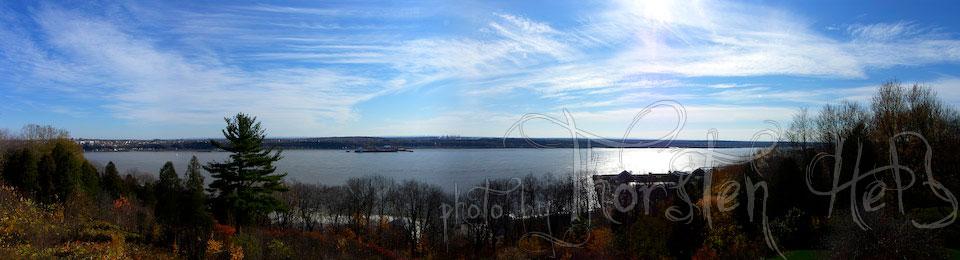 Panorama Saint Lawrence River (Quebec, Kanada)