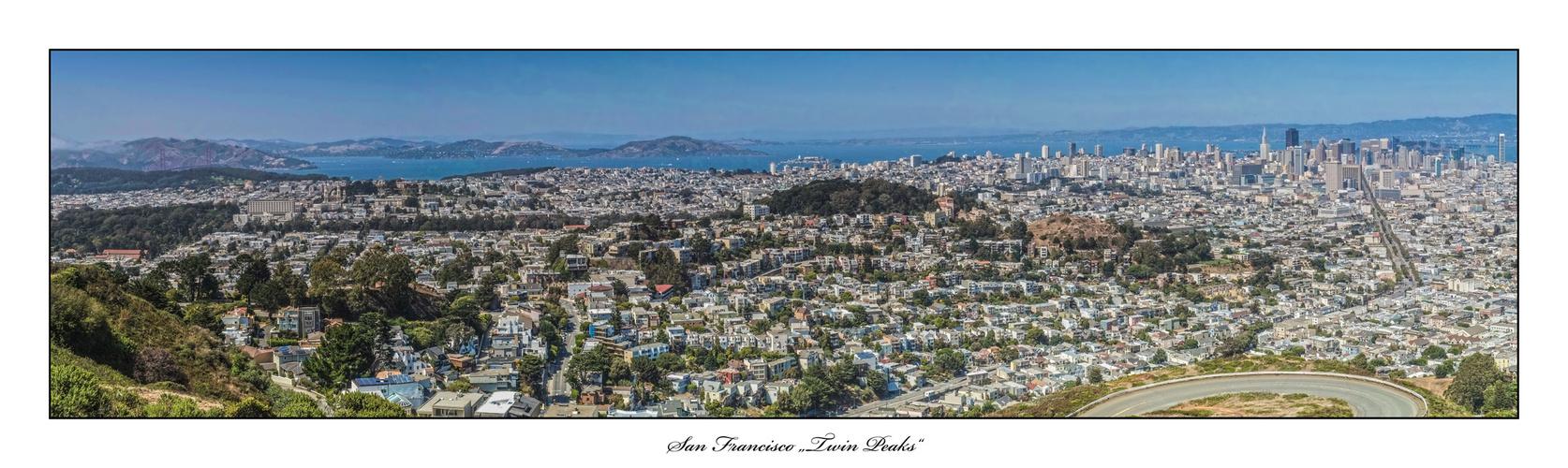 Panorama San Francisco Twin Peaks