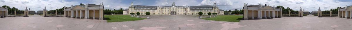 Panorama Schloss Karlsruhe
