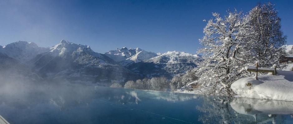 Panorama Sky Pool im Winter
