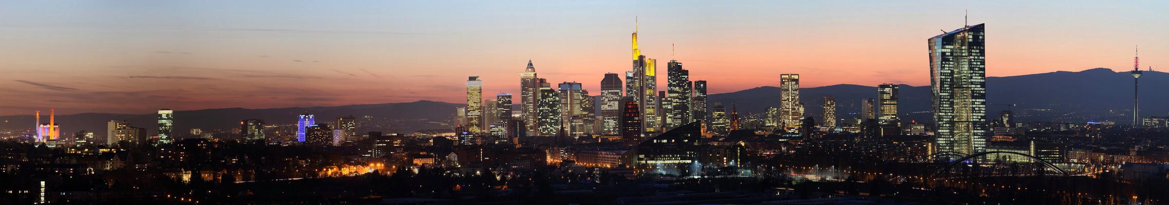 Panorama Skyline Frankfurt