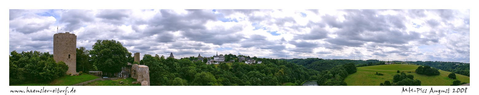 Panorama Stadt Blankenberg (Hennef)