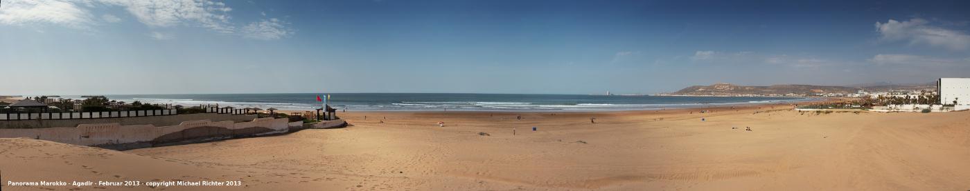 Panorama Strand Agadir