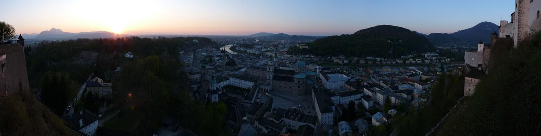 Panorama Sunset Salzburg Festung Nordseite