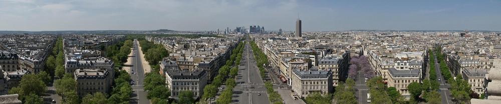 Panorama vom Arc-de-Triomphe...