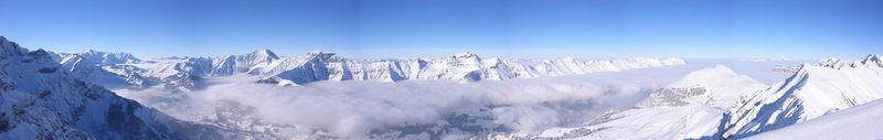 Panorama vom Bunderspitz auf Niesenkette