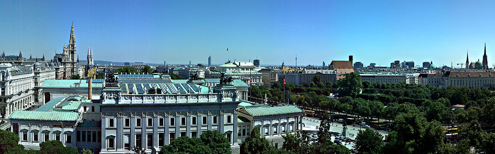 Panorama vom Cafe Justizpalast