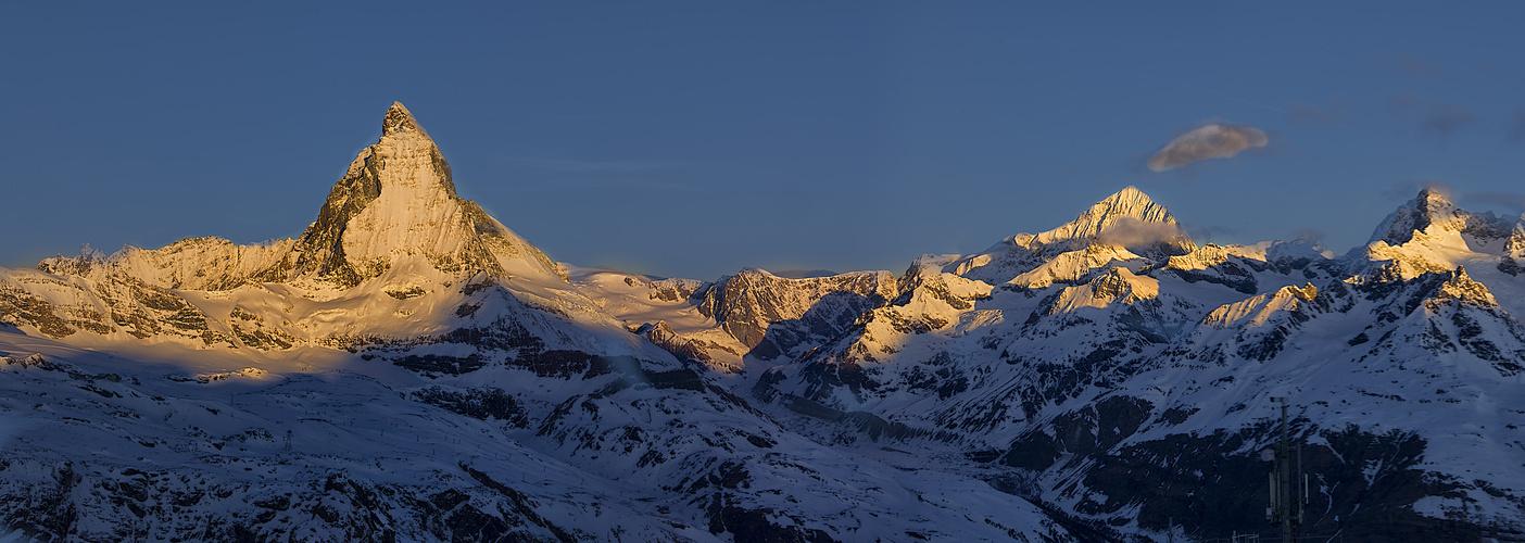 Panorama vom Gornergrad aus..