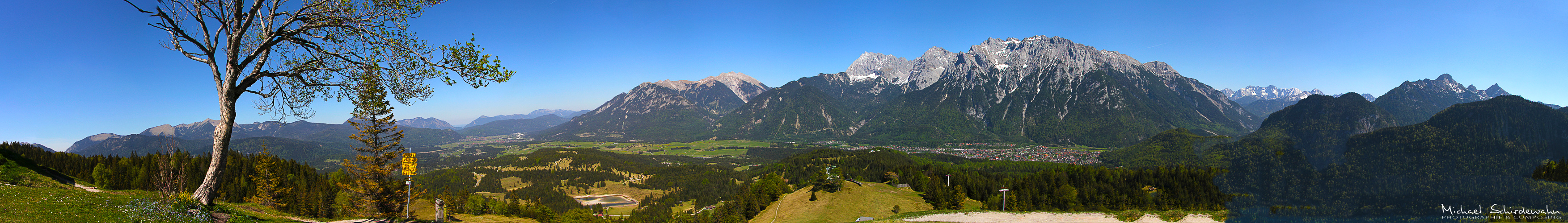 Panorama vom Karwendelgebirge