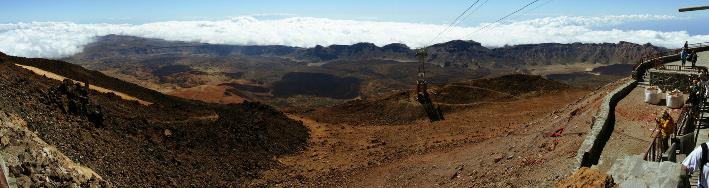 Panorama vom Pico del Teide
