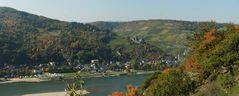 Panorama vom Rheinsteig auf Bacharach