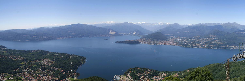 "Panorama vom ""Sasso del Ferro"" auf den Lago Maggiore"