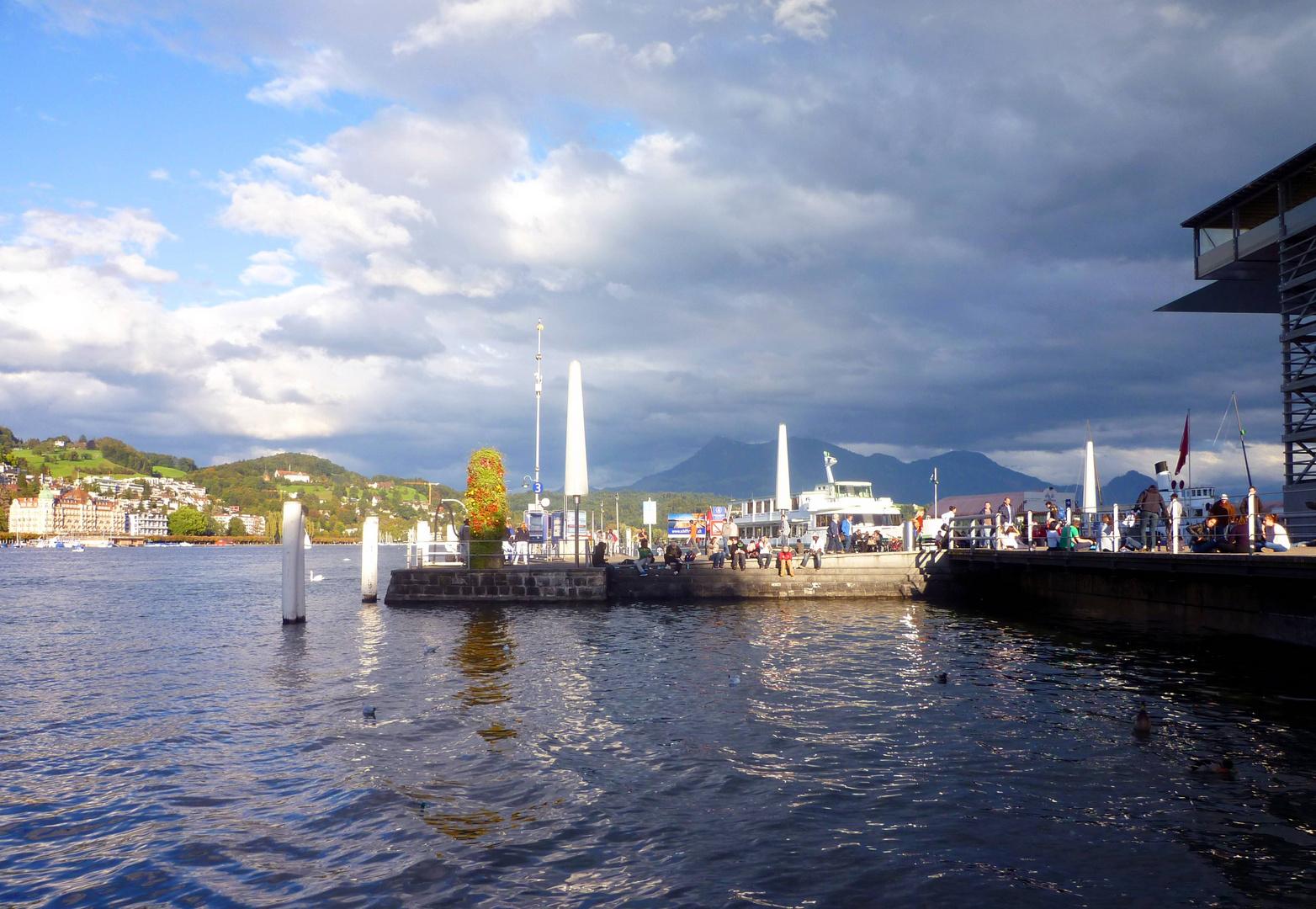 Panorama vom Schiffssteg ...