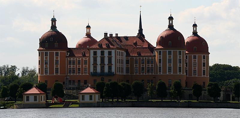 Panorama vom Schloss Moritzburg