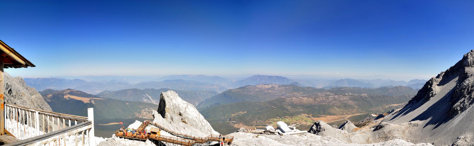 Panorama vom Yulongxueshan