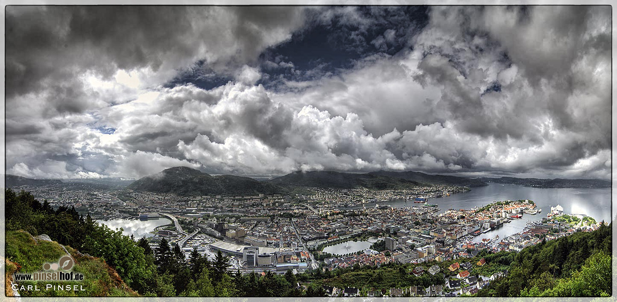 Panorama von Bergen