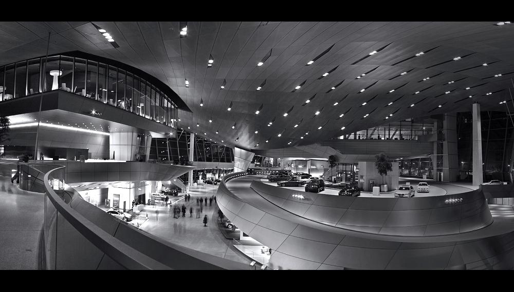 Panorama von der BMW Welt