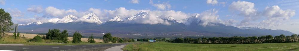 Panorama von der Hohen Tatra, Slowakei
