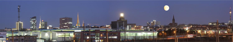 Panorama von Dortmund Nachtaufnahme