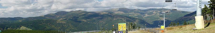 Panorama von einen Teil des Riesengebirges