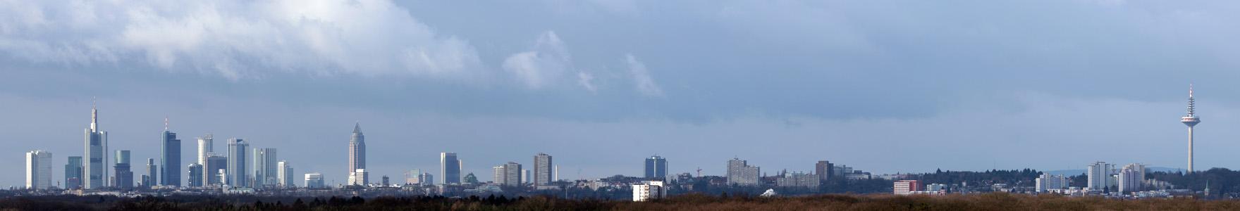 Panorama von Frankfurt am Main @day