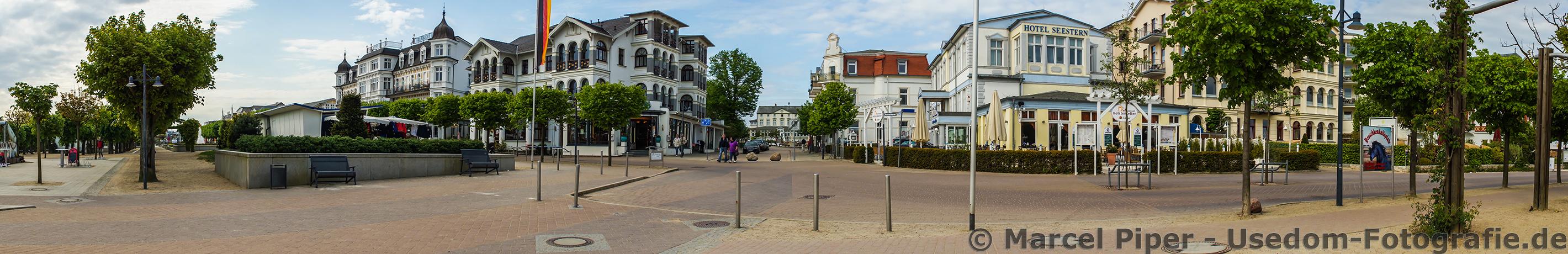 Panorama Vorplatz vom Rialto in Ahlbeck