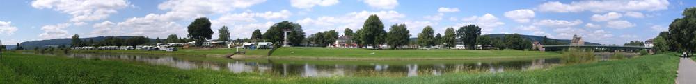 Panorama Weser bei Holzminden