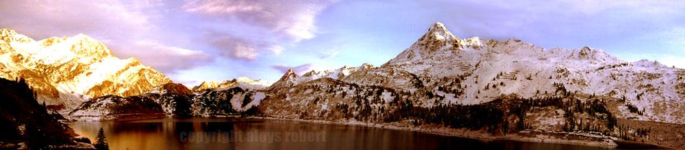 Panorama Zeinissee im Paznaun (Tirol)