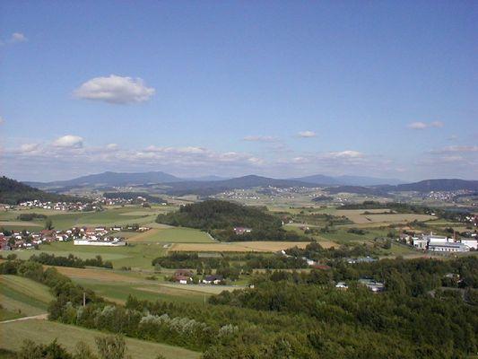 Panoramaaufnahme vom Oberen Bayerischen Wald
