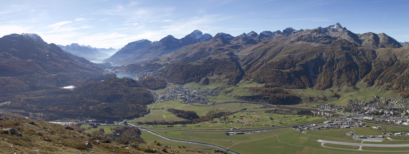 Panoramabild ab Muottas Muragl
