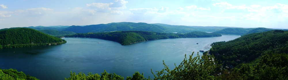 Panoramabild Edersee