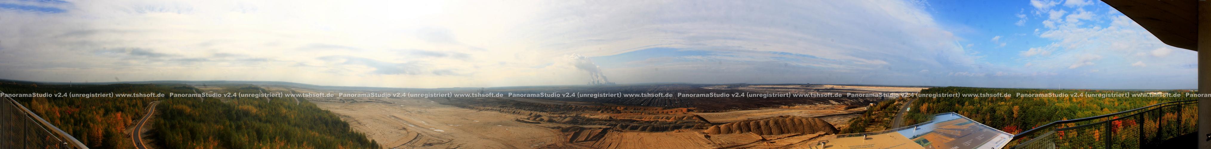 Panoramabild Tagebau Nochten