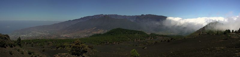 Panoramabild von der Caldera de Taburiente La Palma