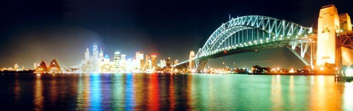 Panoramabild von Sydney bei Nacht