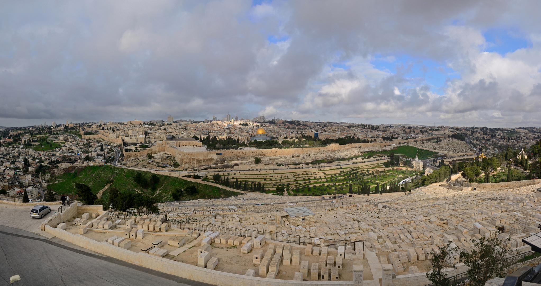 Panoramablick auf die Altstadt von Jerusalem