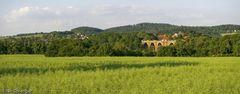 Panoramablick auf die Elstertalbrücke