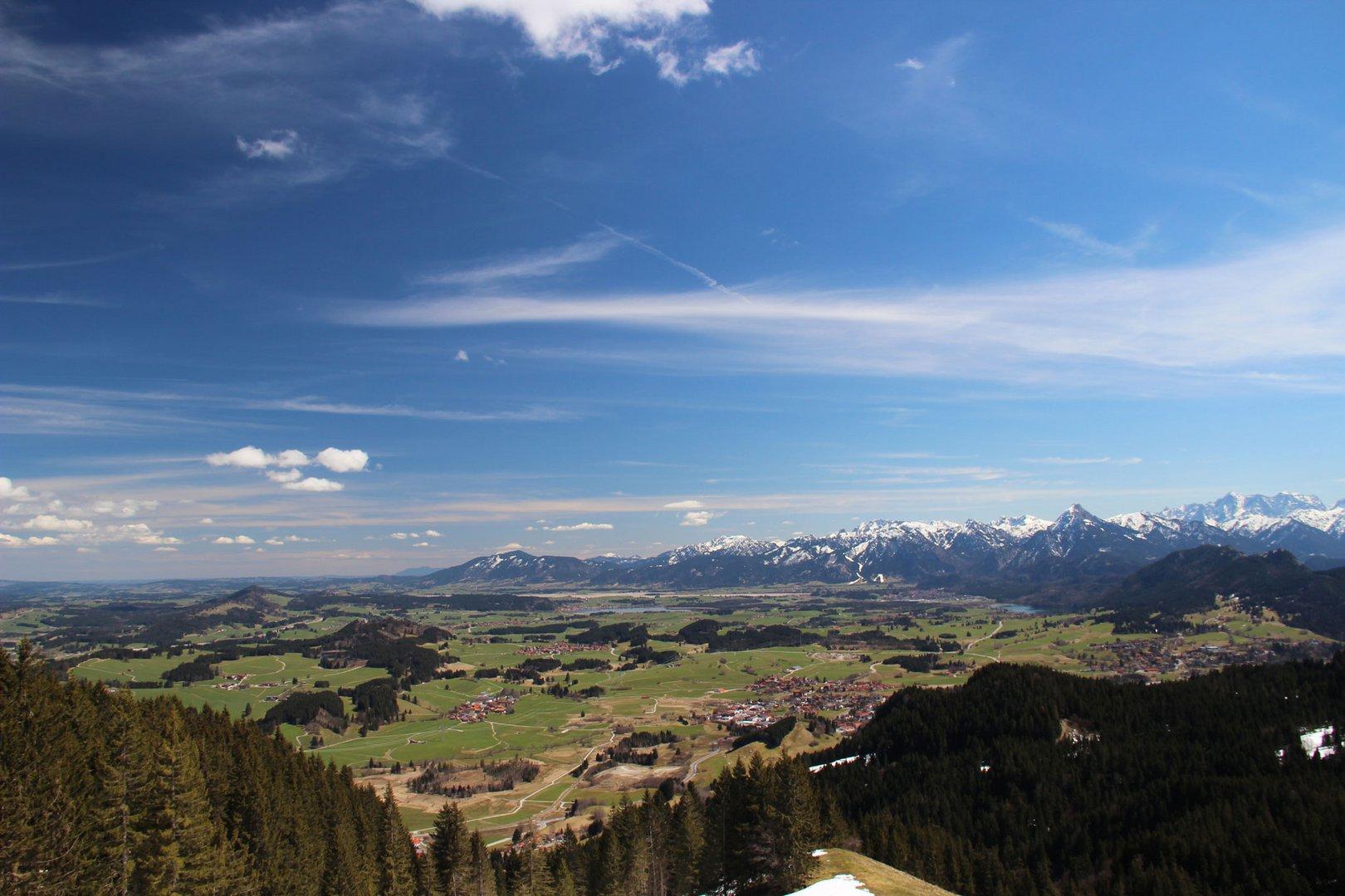 Panoramablick inklusive der Zugspitze