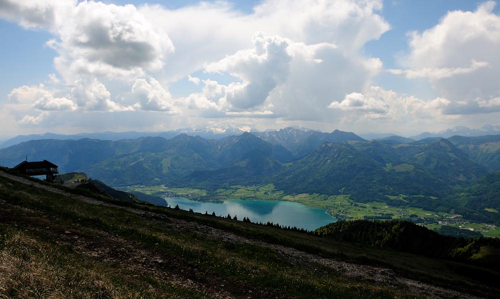 Panoramablick v. Schafberg im Salzkammergut