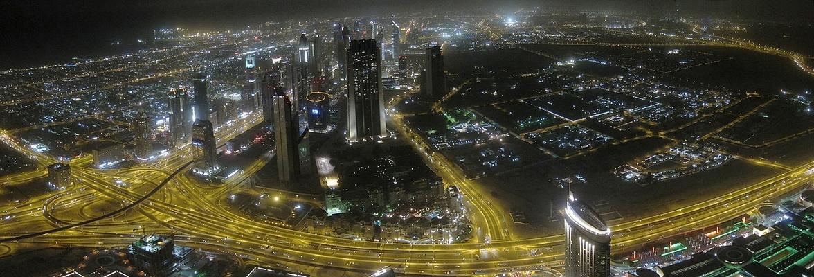 Panoramablick vom Burj Khalifa Dubai