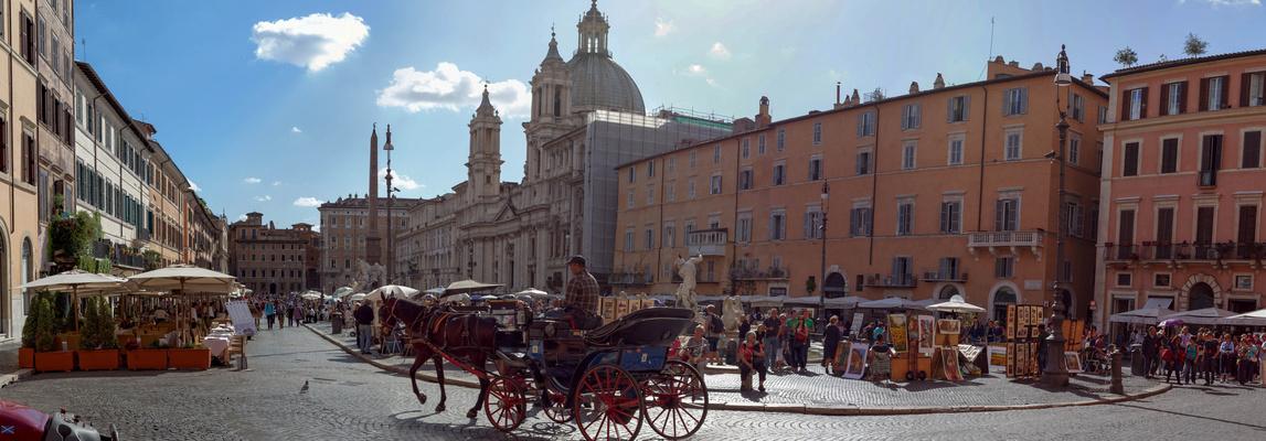 Panoramafoto Piazza Navona