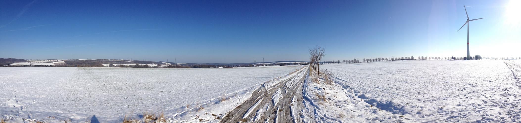 Panoramafoto von der Bürener Landschaft