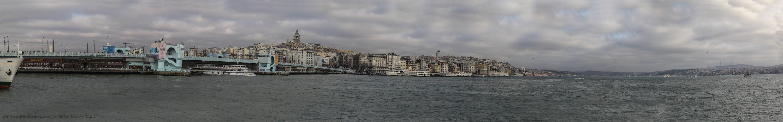 Panorámica de los Puentes Gálata y del Bósforo (Estambul Turquia)