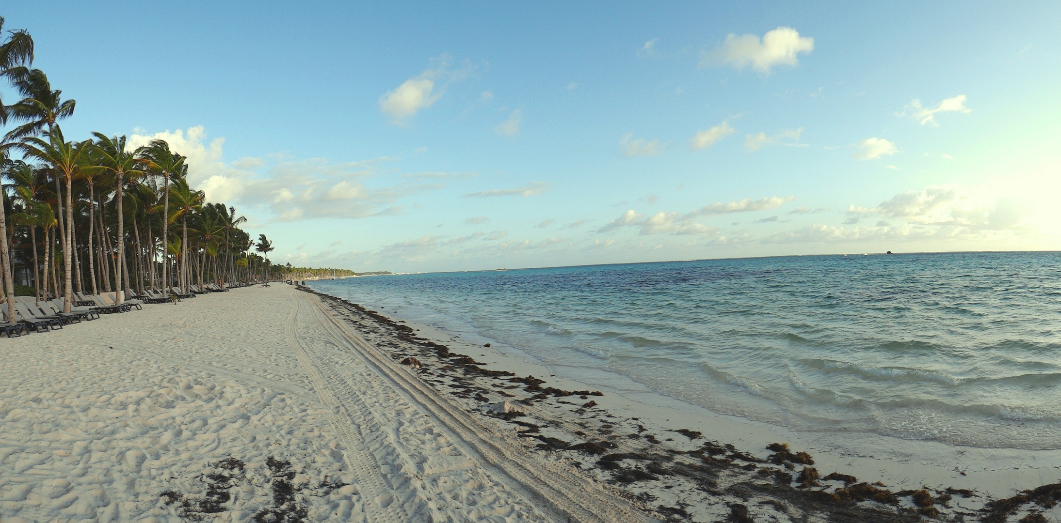 Panorámica de Punta Cana al amanecer
