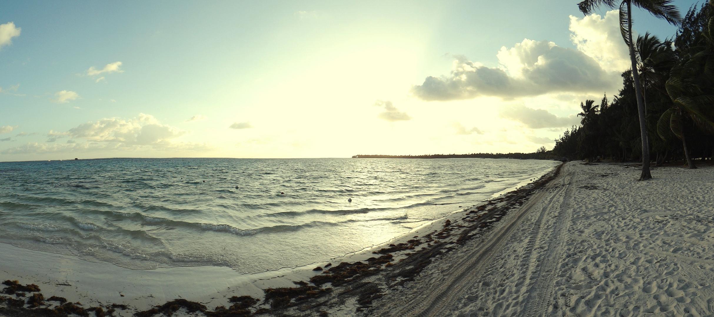 Panorámica de Punta Cana al amanecer [el otro lado...a contraluz]