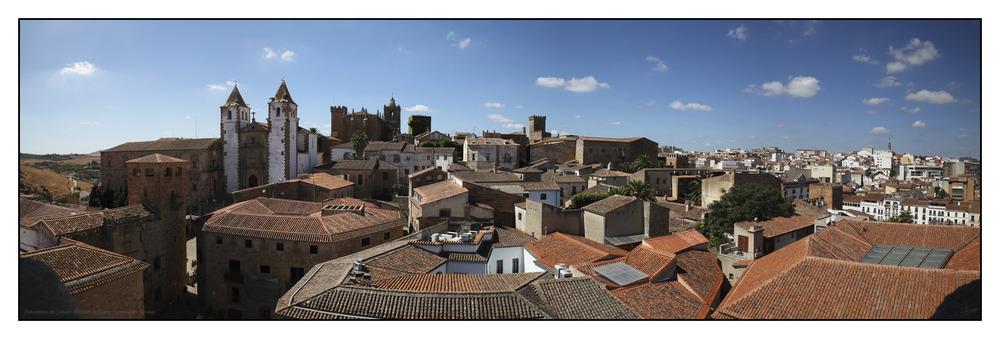 Panorámica del Conjunto Histórico de Cáceres (Extremadura España)