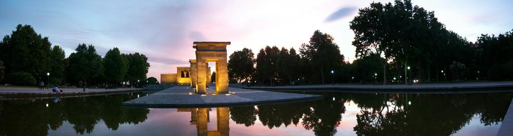 panoramica del Templo de Debod