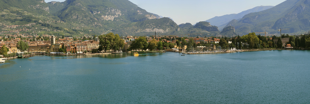 Panoramica di Riva del Garda