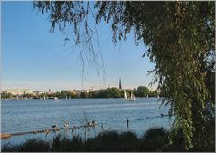Panoramica sull ` Alster.