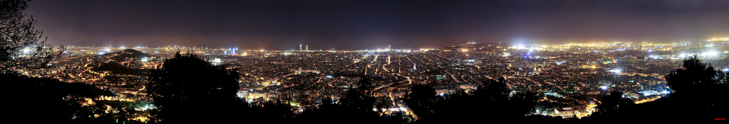 panoramique de Barcelone